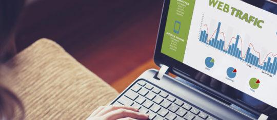 trafic sur un site web